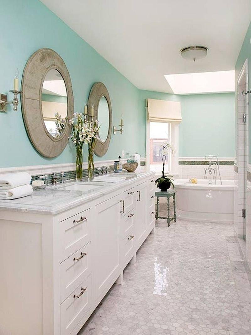 20180625074839 eeed Màu xanh bạc hà cho phòng tắm ngày hè thêm dịu mát