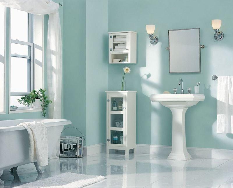 20180625074841 77bd Màu xanh bạc hà cho phòng tắm ngày hè thêm dịu mát