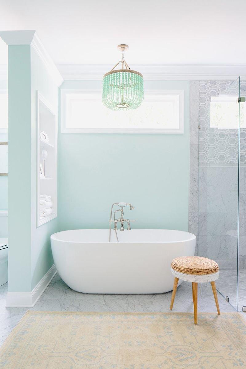 20180625074841 8671 Màu xanh bạc hà cho phòng tắm ngày hè thêm dịu mát