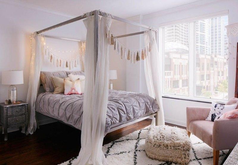 20180927083330 4a4e Mê mẩn trước vẻ đẹp thanh lịch của mẫu giường ngủ Canopy