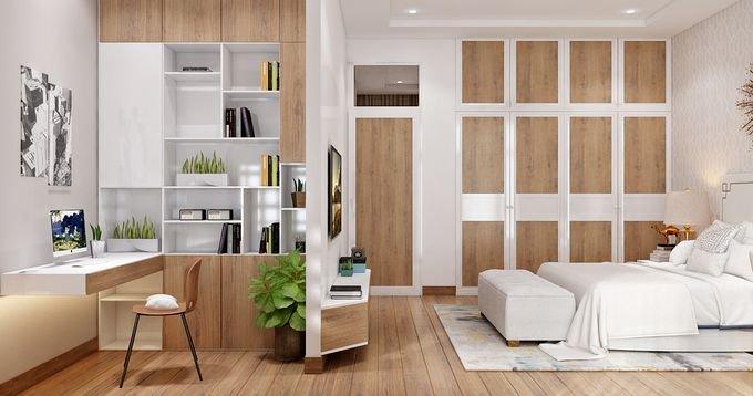 PHONG NGU MASTER 5 1543302856 680x0 Tư vấn làm nhà 3 tầng hoàn thiện nội thất với 1,5 tỷ