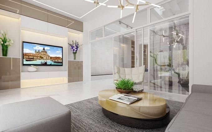 TANG 1 180619 Scene 3 1543302503 680x0 1 Tư vấn làm nhà 3 tầng hoàn thiện nội thất với 1,5 tỷ