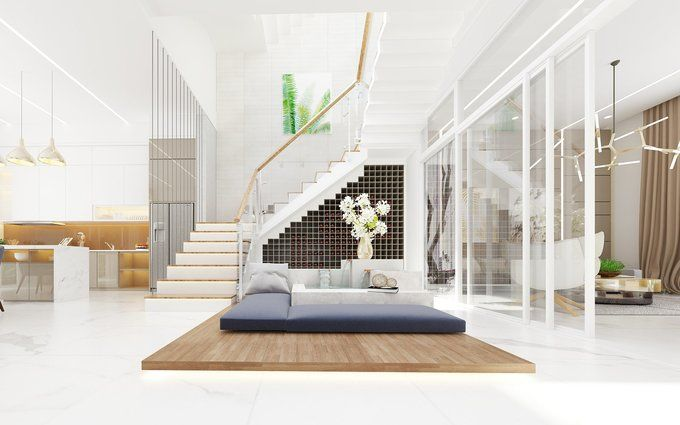 TANG 1 180619 Scene 4 1543302638 680x0 Tư vấn làm nhà 3 tầng hoàn thiện nội thất với 1,5 tỷ