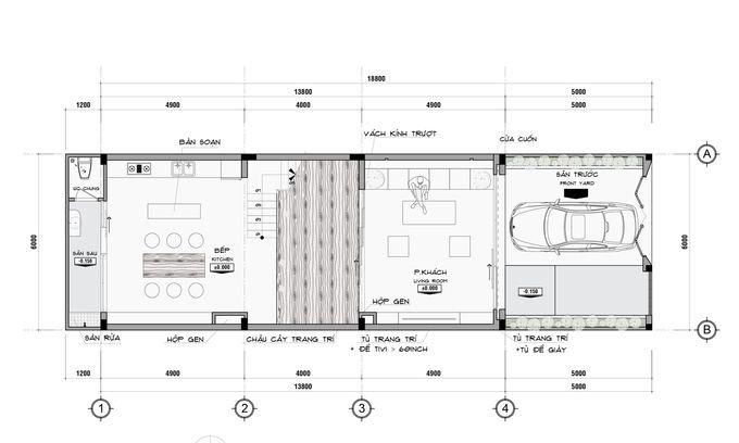 t ng 1 680x0 Tư vấn làm nhà 3 tầng hoàn thiện nội thất với 1,5 tỷ