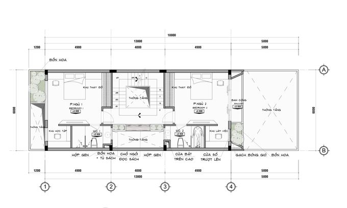 t ng 2 680x0 Tư vấn làm nhà 3 tầng hoàn thiện nội thất với 1,5 tỷ