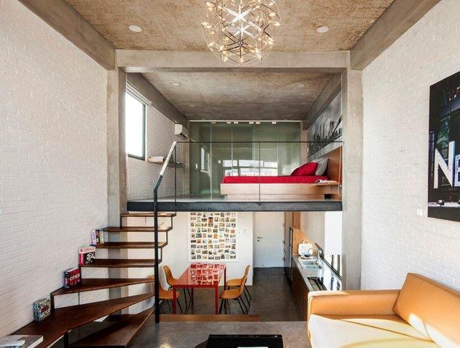 can ho thong tang 1 bce7 Chất New York thập niên 50 trong căn hộ có 3 tầng thông nhau