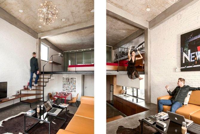 can ho thong tang 2 38c4 Chất New York thập niên 50 trong căn hộ có 3 tầng thông nhau