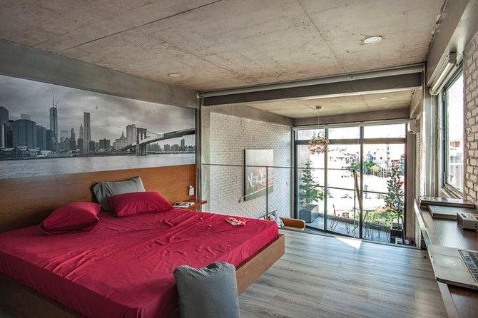 can ho thong tang 6 ccb6 Chất New York thập niên 50 trong căn hộ có 3 tầng thông nhau